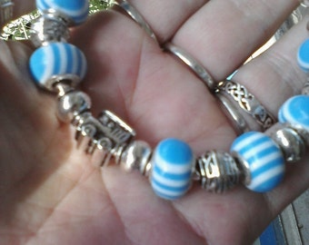 Sweet little choo choo train, Euro style bracelet