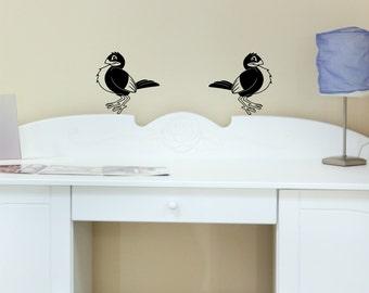 Birds wall decal set