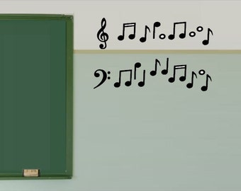 Music Notes Wall Decal - Classroom Decor - Music Classroom Decor - Teacher Decoration  - Music Class Decor - Teacher Decoration - Classroom