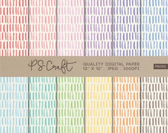 Watercolor Strokes Digital Papers, Brush Strokes Pattern, Strokes and Lines Background, Brush Strokes Wallpaper