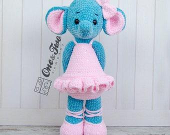 "Emma the Big Elephant ""Big Hugs Series"" Amigurumi - PDF Crochet Pattern - Instant Download - Amigurumi Cuddy Stuff"
