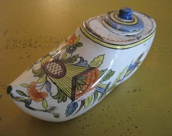 Antique French Faience Inkwell