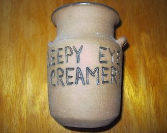 Sleepy Eye Pottery promotional creamer