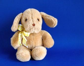 Vintage Brown Dog Stuffed Animal by GUND Puppy Floppy Ears 1980s Toy Retro Toys Vintage Kids Plush