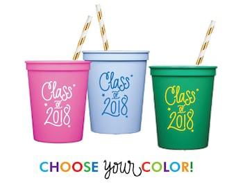 Graduation Stadium Cups | Choose YOUR Color!