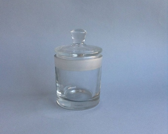 Vintage glass jar Soviet chemical glass jar Retro glass Small chemical churn USSR 1970s
