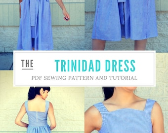 The Trinidad Dress PDF sewing pattern and step by step sewing tutorial