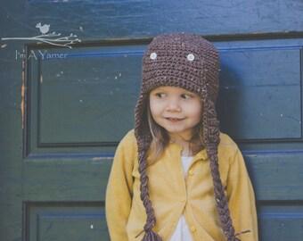 Airplane Birthday Hat, Newborn Aviator Hat, Aviation Gift, Winter Is Coming, Aviator Cap, Unisex Toque, Crochet Hat, Baby Beanie, Newborn