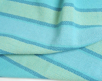 beach colors hand towel, aqua weft