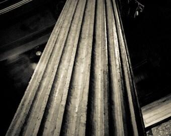 Rome Italy - Architecture - Black and White - Sepia - Fine Art Photograph - Pantheon Pillar
