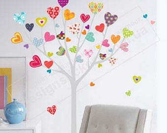 Wall Decal for children's room. Vinyl Stickers *HEARTS on The TREE* - the Best Decal for children's rooms