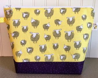 Sheep Knitting Project Bag - Medium / Shawl Size