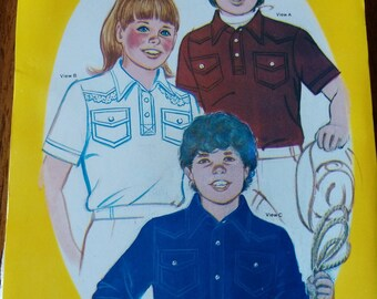 1983 SewEasy #138 Pattern for Child's Western Shirt - Size 6,8,10,12
