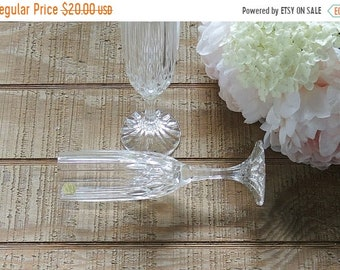 ON SALE Crystal D Arquis Champagne Glasses Toasting Flutes Set of 2