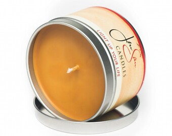 Caramel Apple Spice Travel Tin Scented Soy Candle -  8 oz