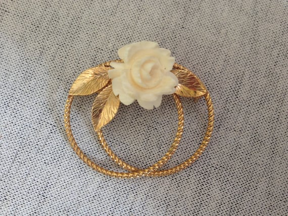 Vintage G.F. Burt Cassell Flower Pin/Brooch by Etsy