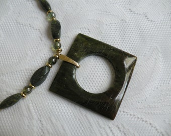Serpentine Square Donut Necklace and Earring Set