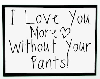 Naughty Valentine's Card. Couples Love You Card. Funny Valentine Card for Him. Dirty Guys Valentine.