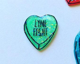 Lyme Disease Awareness pin