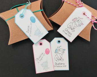 """Baby Shower Tags -  """"BABY ELEPHANT"""""""