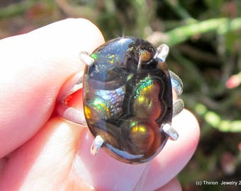 fire agate ring mexican fire agate solitaire ring