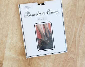 Vintage Pamela Mann black seamed tights