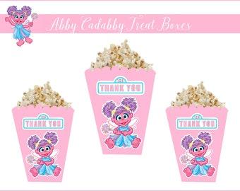 8 ABBY CADABBY Treat Boxes, Abby Cadabby Party Supplies, Abby Cadabby Party Favors, Abby Cadabby Popcorn Boxes, Abby Cadabby Party Decor.