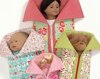Slumber Party Sleeping Bags for Dolls Sewing Pattern Atkinson Designs
