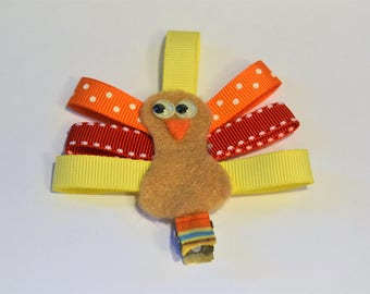 Thanksgiving Turkey Hair Clip