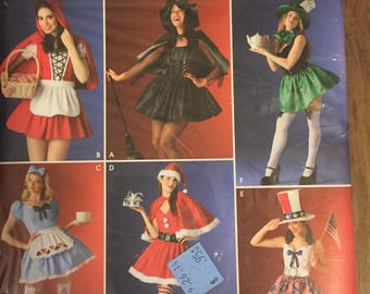 Simplicity New/ Uncut Multiple Design Adult Halloween Costume Pattern : Sz• 10-16