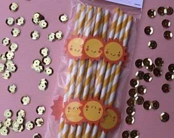 Sunshine Straws-Set of 12