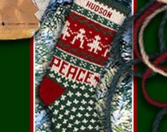 PEACE on EARTH Custom Christmas Stockings Made in USA