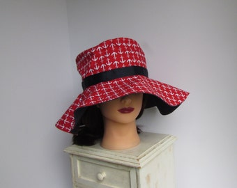 Sun Hat with Anchors