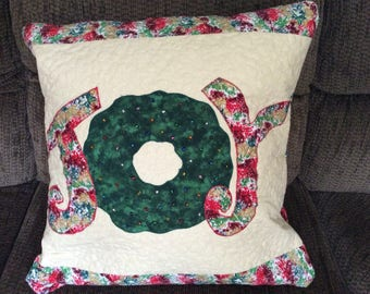Joy Quilted Pillow Cover
