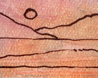 Original ACEO, Sunset Series No.3