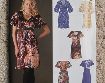 UNCUT Misses Pullover Dress - Size 8, 10, 12, 14, 16, 18 - Simplicity New Look Pattern 6001