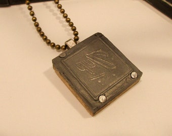 7UP Printing Block Necklace