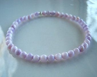 Light Lavender Mother of Pearl Stretch Bracelet Lavender Stretch Bracelet Lavender Stacking Bracelet