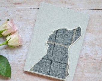 Black Labrador Notebook | Labrador Journal with tweed Labrador | Black Labrador Gift | Labrador owner | Black Labrador notepad | Tweed gift