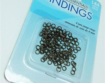 4mm Jump Rings - Antique Gold
