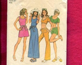 1970's Simplicity 5029 Fun in the Retro Sun Resort Wear Pattern Size 10