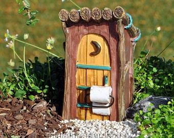 Woodland Outhouse for Miniature Garden, Fairy Garden