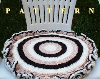 Chair seat cushion crochet pattern cushion pattern crochet cushion crochet pillow pattern crochet chair seat crochet OlgaAndrewDesigns044