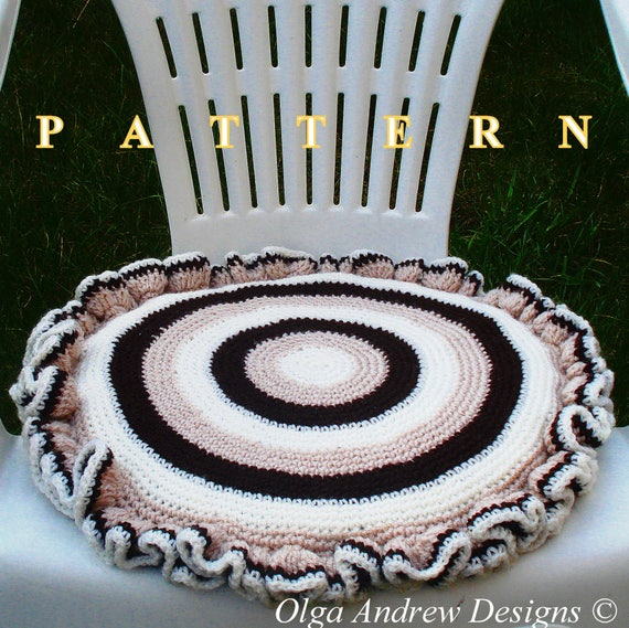 Chair Seat Cushion Crochet Pattern Cushion Pattern Crochet Cushion