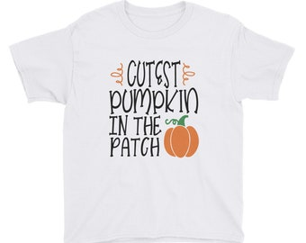 Cutest Pumpkin In The Patch Youth Short Sleeve T-Shirt