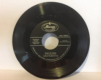 Dinah Washington What A Difference A Day Makes 45 RPM Mercury Records Come On Home