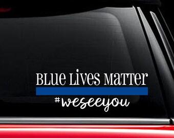 Blue Lives Matter Decal, Back the Blue, Police Officer, Police