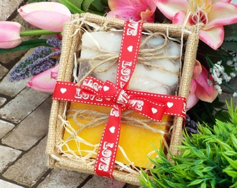 Bath gift, soap gift set for her, bath and beauty, natural soap, homemade soap, 2 soaps, you choose the scents