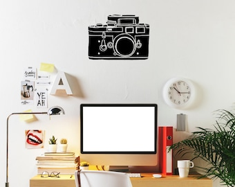 """Camera, Wall Decal, Photography, Wall Sticker (20"""" x 14.8"""")"""