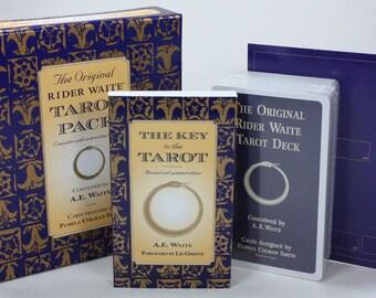Original Rider Waite Tarot Deck with Book, complete tarot set incl tarot deck with 78 cards and book